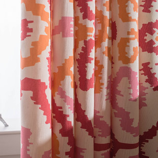 Spark Navajo Geometric Patterned Curtain 4