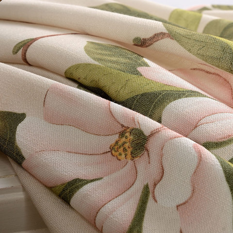 Smell The Roses Pastel Pink Floral Curtain 8