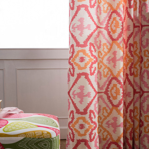 Spark Navajo Geometric Patterned Curtain 5