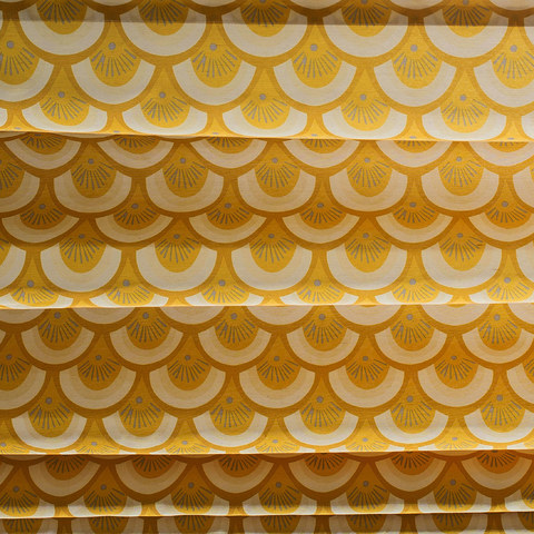 Hello sunshine Modern Yellow Floral Roman Blinds 2