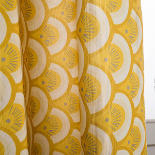 Hello sunshine Modern Yellow Floral Roman Blinds 3