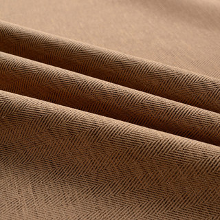 Blackout Zigzag Twill Brown Curtain 5