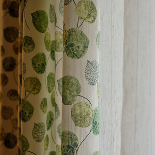 The Eucalyptus Moment Green Leaf Roman Blind 4