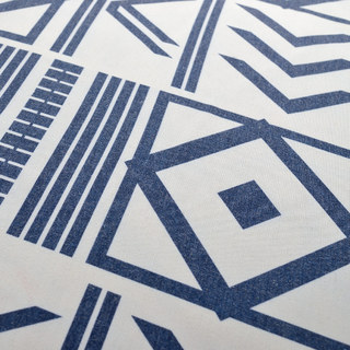 The City Sketch Blue Modern Geometric Roman Blind 4
