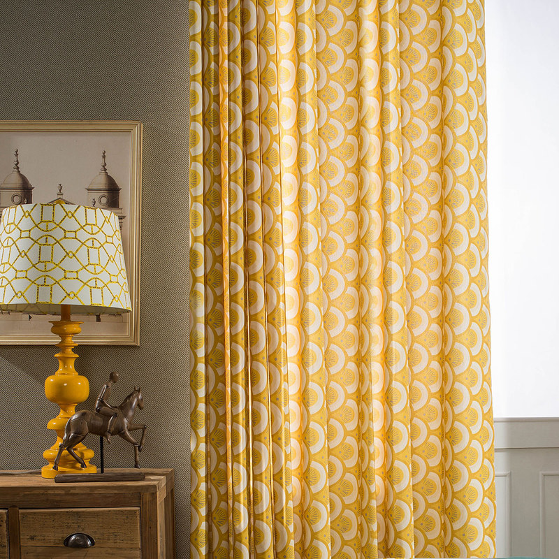 Hello Sunshine Modern Yellow Floral Curtain Voila Voile 174