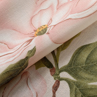Smell The Roses Pastel Pink Floral Curtain 9