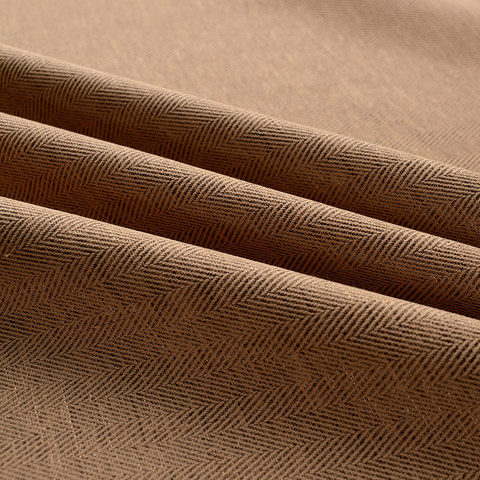 Blackout Zigzag Twill Brown Roman Blind 1