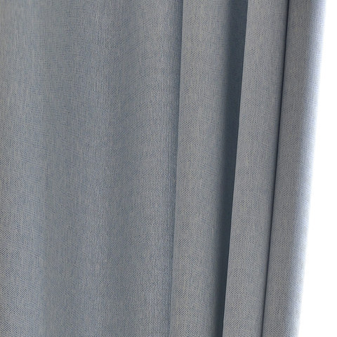 Blackout Zigzag Twill Baby Blue Roman Blind 2