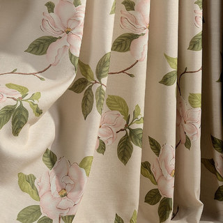 Smell The Roses Pastel Pink Floral Roman Blind 1