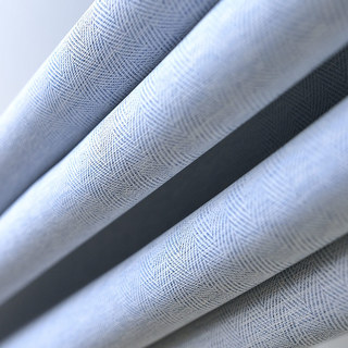 Blackout Zigzag Twill Baby Blue Curtain 7