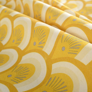 Hello sunshine Modern Yellow Floral Roman Blinds 4