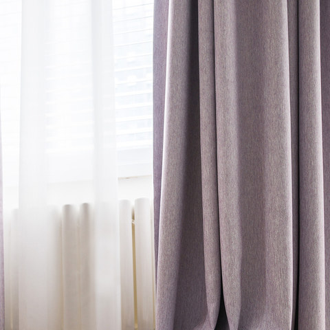 Absolute Blackout Light Pink Purple Curtain 5
