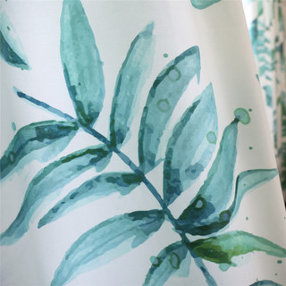 Tropical Jungle Palm Tree Green Leaf Curtain 8