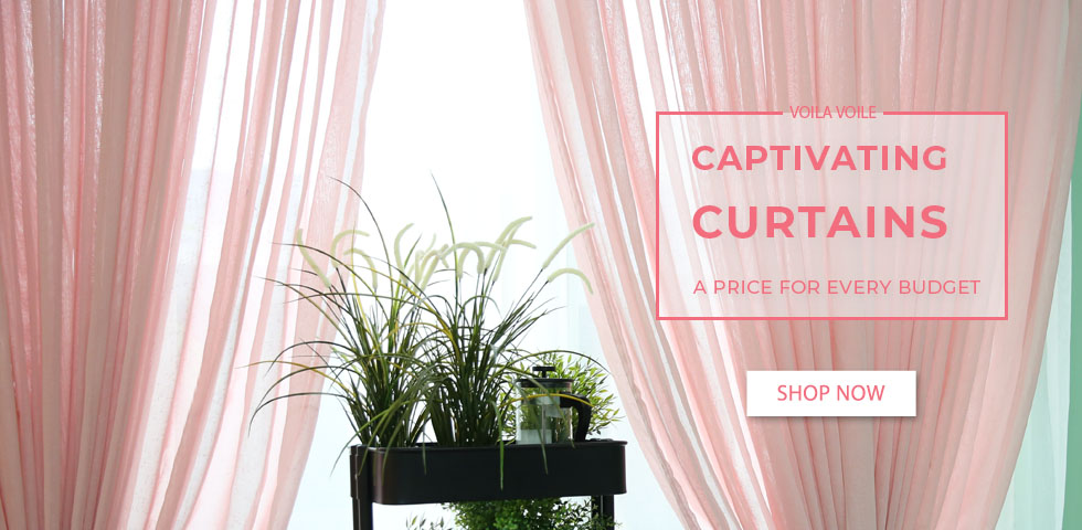 Luxury Blush Pink Voile Curtains