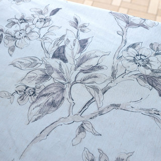 The Secret Garden Grey Flower Roman Blind 1