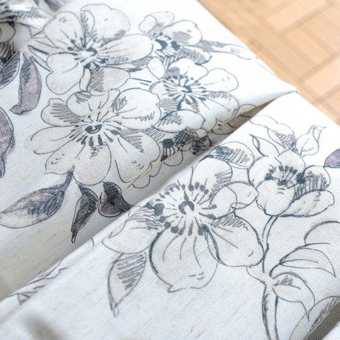 The Secret Garden Grey Flower Roman Blind 3