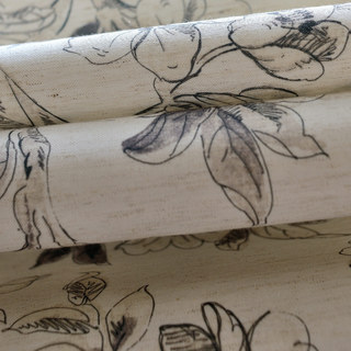 The Secret Garden Grey Flower Roman Blind 2