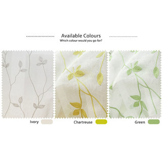 Love Fantasy Ivory Leaf Voile Curtain 5