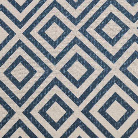 Blue Diamond Modern Geometric Roman Blind 1