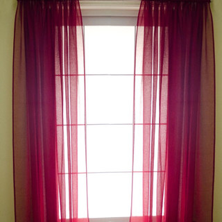 Smarties Burgundy Soft Sheer Voile Curtain 1