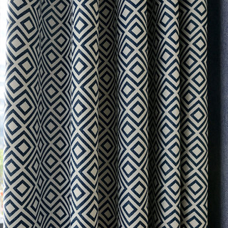 Blue Diamond Modern Geometric Roman Blind 3