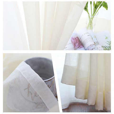 Luxe White Sheer Voile Curtain 4