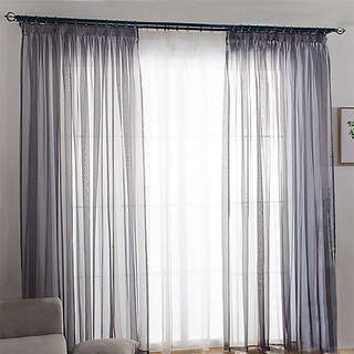 Sheer Curtain Smarties Grey Soft Sheer Voile Curtain 1
