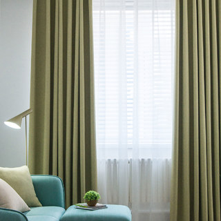 Absolute Blackout Olive Green Curtain 1