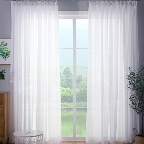 Sheer Curtain Smarties Brilliant White Soft Sheer Voile Curtain 1