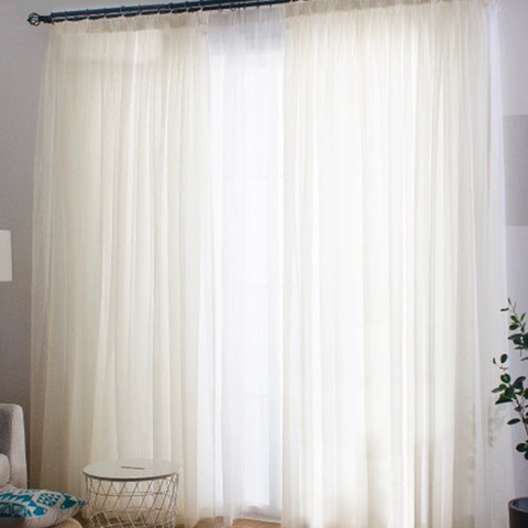 Sheer Curtain Smarties Cream Soft Sheer Voile Curtain 3