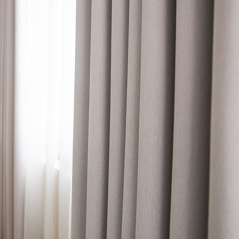 Absolute Blackout Neutral Ivory White Curtain 5