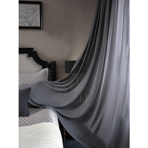 Sheer Curtain Scandinavian Grey Voile Curtain 2