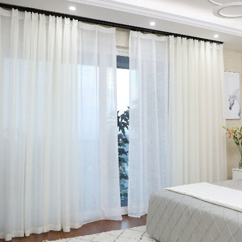 Luxe White Sheer Voile Curtain 1