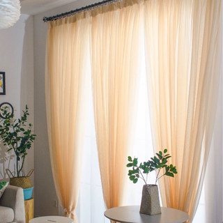 Smarties Champagne Yellow Soft Sheer Voile Curtain 3