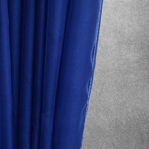 Smarties Navy Soft Sheer Voile Curtain 2