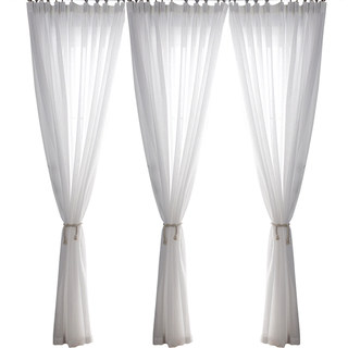 Sheer Curtain Smarties Brilliant White Soft Sheer Voile Curtain 3