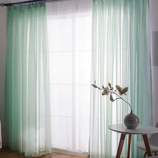 Smarties Mint Green Soft Sheer Voile Curtain 1