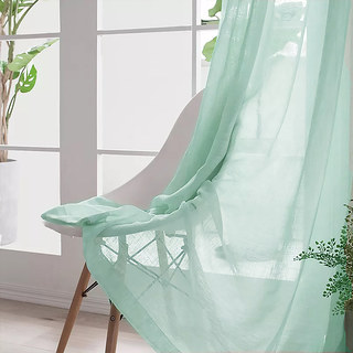 Smarties Mint Green Soft Sheer Voile Curtain 3