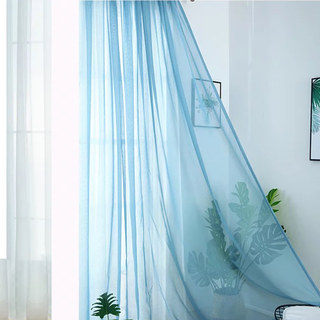 Smarties Baby Blue Soft Sheer Voile Curtain 2