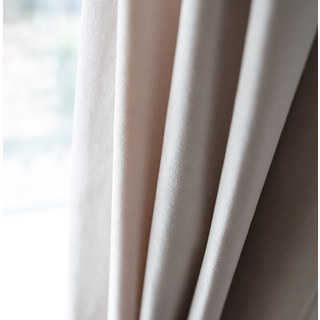 Velvet Microfiber Cream Curtain 5