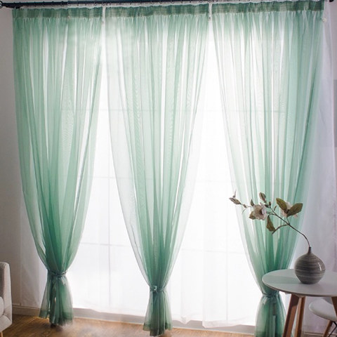 Smarties Mint Green Soft Sheer Voile Curtain 2