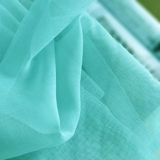 Smarties Turquoise Green Soft Sheer Voile Curtain 3