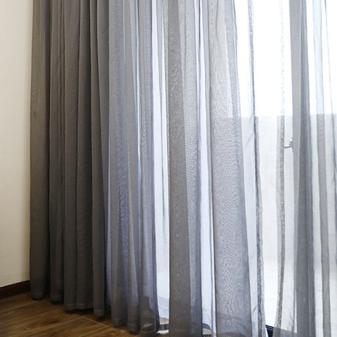 Sheer Curtain Smarties Grey Soft Sheer Voile Curtain 3