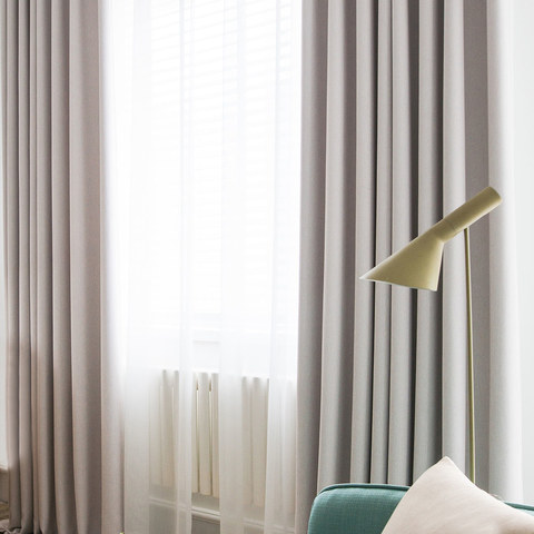 Absolute Blackout Neutral Ivory White Curtain 1