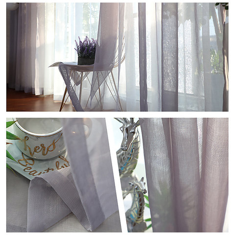 Sheer Curtain Luxe Light Grey Sheer Voile Curtain 3