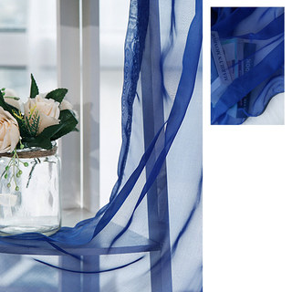 Smarties Navy Soft Sheer Voile Curtain 3