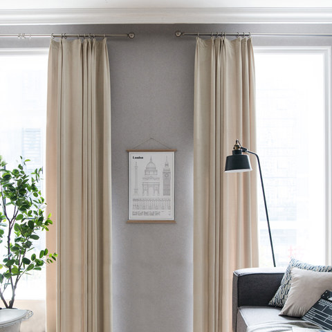 Velvet Microfiber Cream Curtain 2