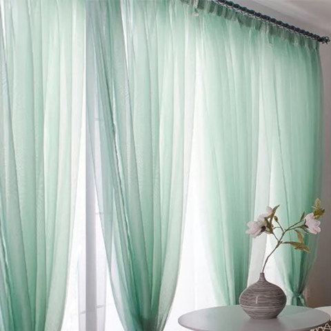 Smarties Mint Green Soft Sheer Voile Curtain 4