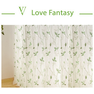 Love Fantasy Green Leaf Voile Curtain 5