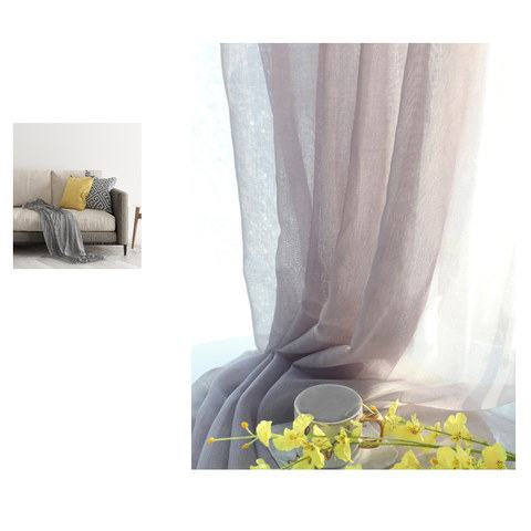Luxe Light Grey Sheer Voile Curtain 4